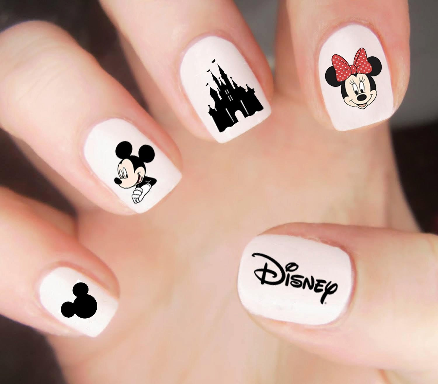 Mickey Mouse Nails: Disney Nail Decals / Disney Nails / Mickey Mouse Nail