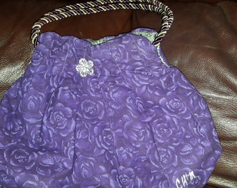 Purple Pleated Purse