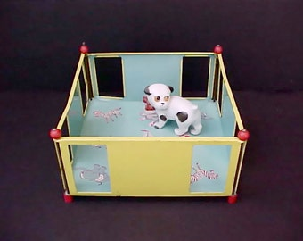 Darling Vintage 1950's Tin Doll's Play Pen by Chein
