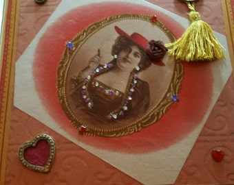 Lovely in Red Cigar Box Purse