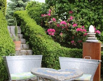 Garden chairs - from a zinc bath
