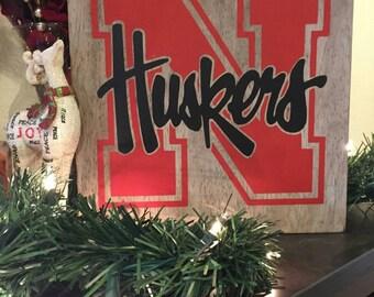Nebraska Cornhuskers Sign