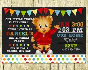 Daniel Tiger Digital Chalkboard Invitations
