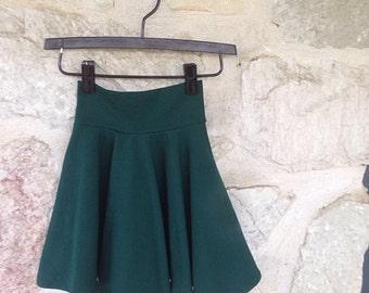 Twirly skirt girls stretchy circle skirt