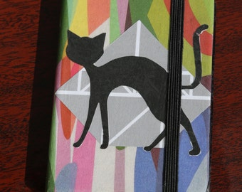 """Original diary. Analog collage """"Cat"""". Hand cut collage diary cover"""