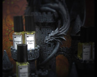Dragon Fire -  4ml bottle, copal, myrrh, amber, cedar, perfume oil