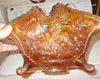Rose Bowl Carnival glass