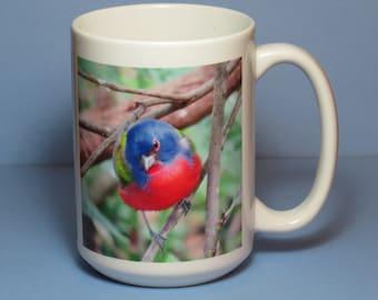 Painted Bunting Coffee Mug