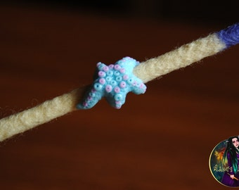 "Bead for dreads ""Starfish"". Beads for dreadlocks."