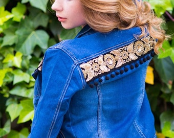 Boho Denim jacket