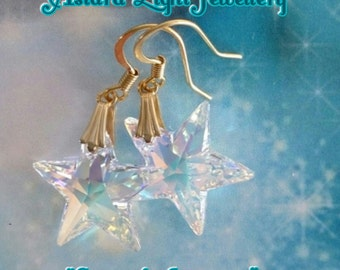 Ashtars Star of Ascension Crystal Swarovski Star Earrings