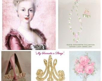 Jardin de Solitude Crystal Swarovski Necklace & Earring Set Marie Antoinette