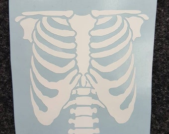 Skeleton torso vinyl decal