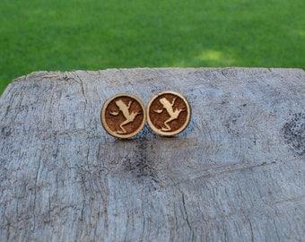 Frog Timber Earrings