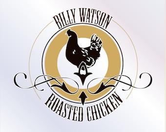 Custom logo design Chicken logo design Grill logo Logo for Grill