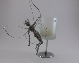 Fairy - Wire Sculpture - For Garden or Indoors