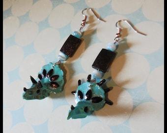 "Earrings ""Tricératops"""