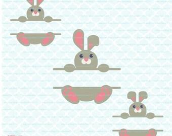 Easter Svg Easter Bunny Svg Bunny Split Monogram Frame Svg Eps Dxf Jpeg Svg Files for Cricut Silhouette Svg Files svg split monogram