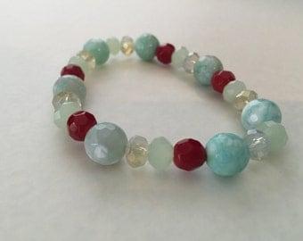 Stretch Bracelet made with Semi Precious Stones