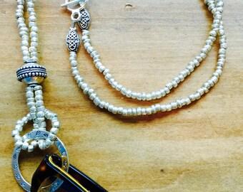 Silver Eyeglass Necklace