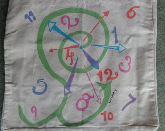 Spiral Clock Large Tote Bag.