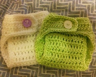 Crocheted Newborn Diaper Cover