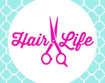 Hair Stylist Decals Etsy
