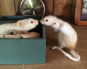 Custom Needle Felted Rat (First payment of two)