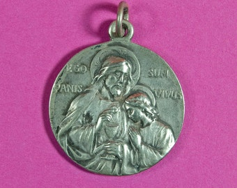 French antique first communion medal signed O.B.C.