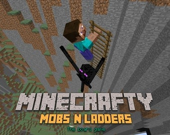 New Minecrafty Mobs 'n Ladders - the board game