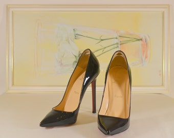 Christian Louboutin Pigalle Patent Leather Black sz. 38