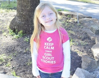 KIDS Keep Calm I Have Girl Scout Cookies Shirt