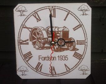 Vintage tractor clock