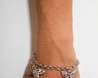 BRACELET WITH BUTTERFLIES