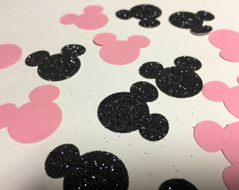 Minnie Mouse confetti Pink and Black