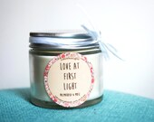 "Natural scented candle ""Love at first light"" / Palmarosa & musk"