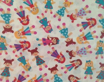 100% cotton fabric - dolls