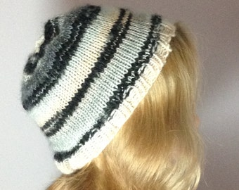 Hand-Knitted Wool Hat