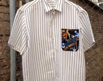 customized vintage stripes shirt