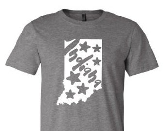 Indiana shirt, Indiana shirt,  Indiana shirt, Home shirt, Indiana outline,  Made by Enid and Elle