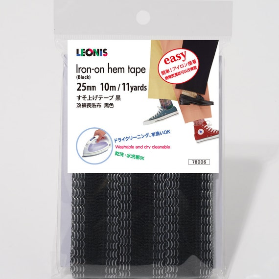 leonis polyester iron on hem clothing tape 1inch x 11yd 25mm. Black Bedroom Furniture Sets. Home Design Ideas