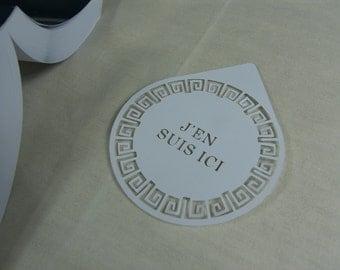 Bookmark circular spiral ethnically motivated rectangular label