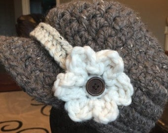 Crochet Newsboy hat