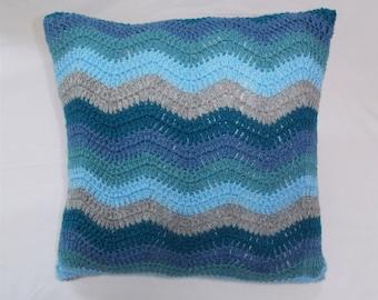 Ripple Crochet Pillow