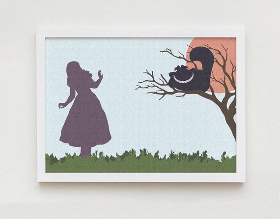 Alice In Wonderland Print Wall Art Home Decor By Printouache
