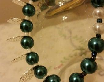 Emerald Spike beaded bracelet