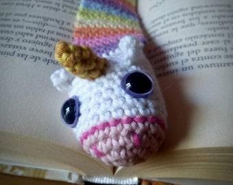 Rainbow Unicorn Bookmark Crochet Amigurumi Book Lover Handmade Gift