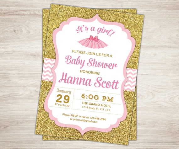 tutu baby shower invitation ballerina baby shower invitation pink