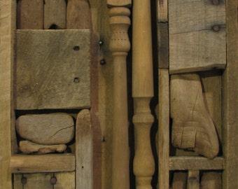 Assembled Wood Wall Sculpture