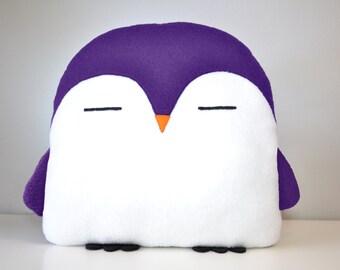 NEW! PLUMM the Penguin pillow purple kawaii handmade < 3